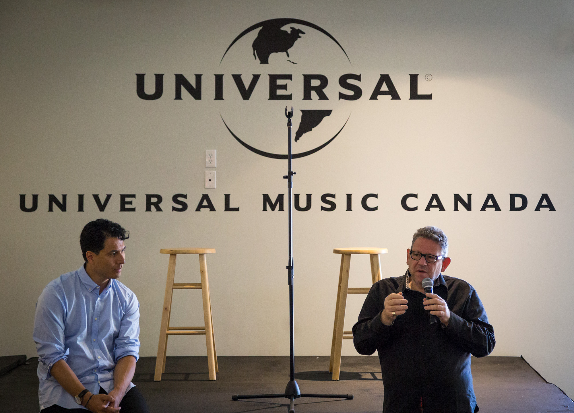 Sir Lucian Grainge, Chairman and CEO of UMG, visited the Universal Music Canada offices this week, addressing staff and highlighting the importance of the Canadian music market in terms of economic activity and wealth of talent.""