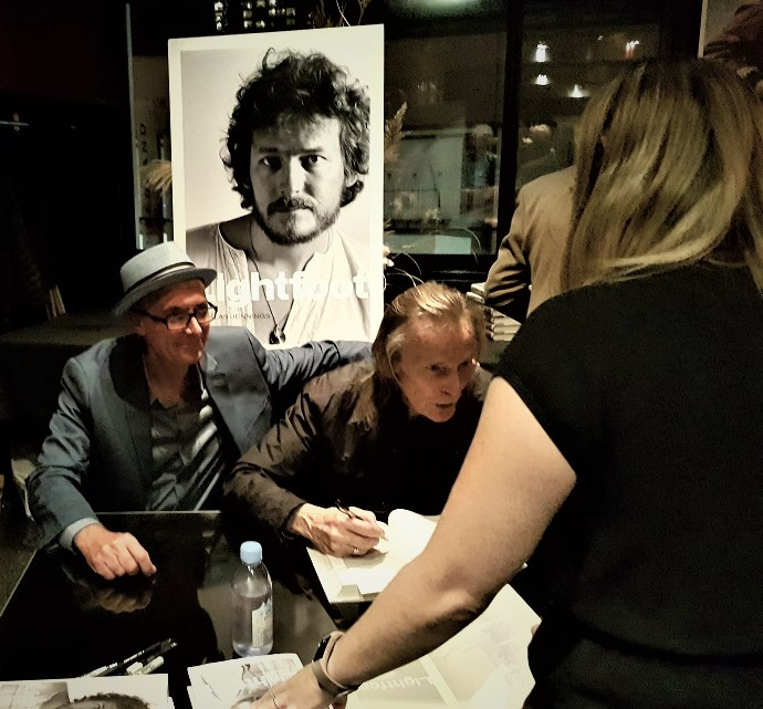Author Nick Jennings with his subject Gordon Lightfoot