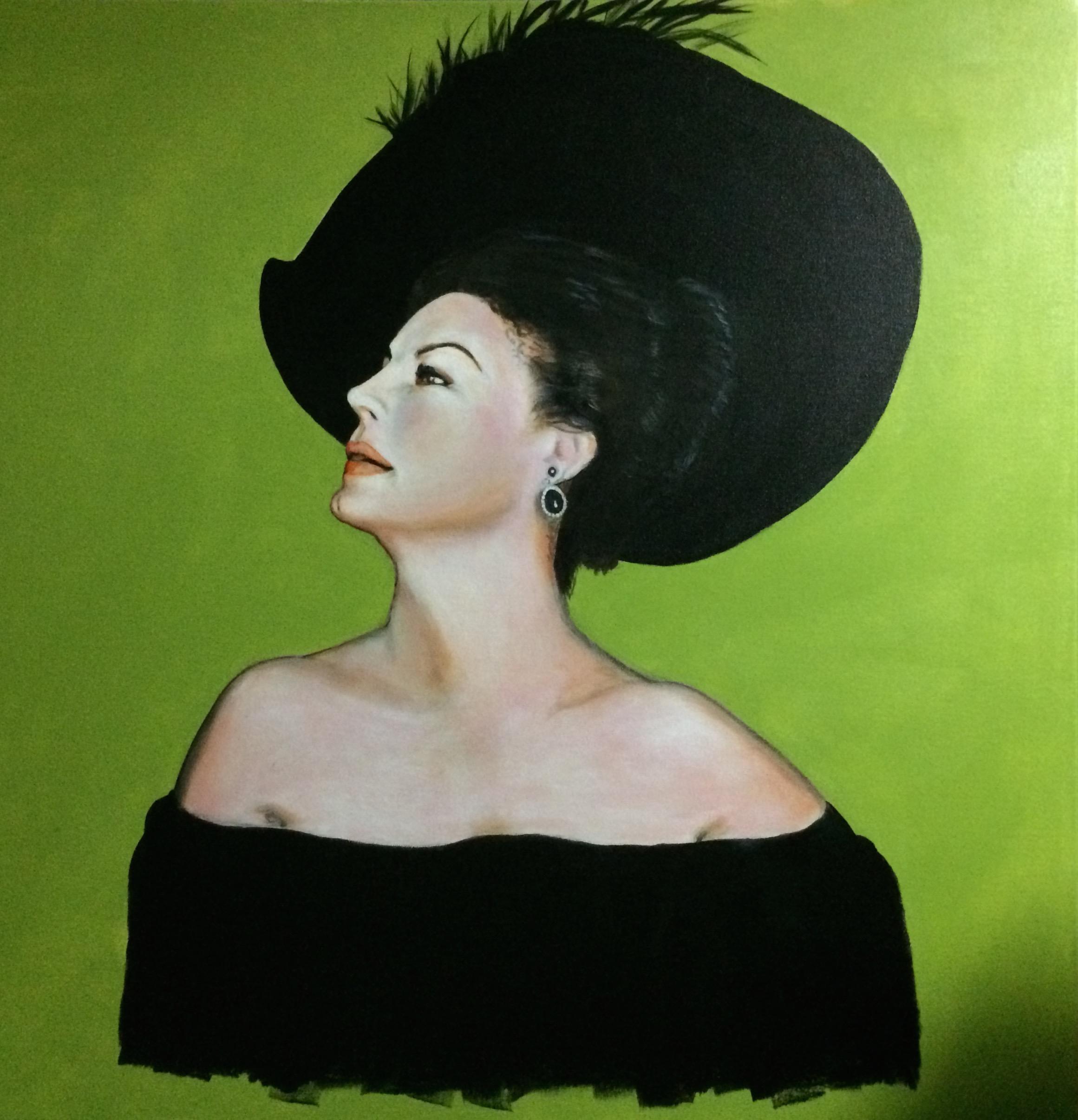 Actress Ava Gardner painting by Ken Tobias.