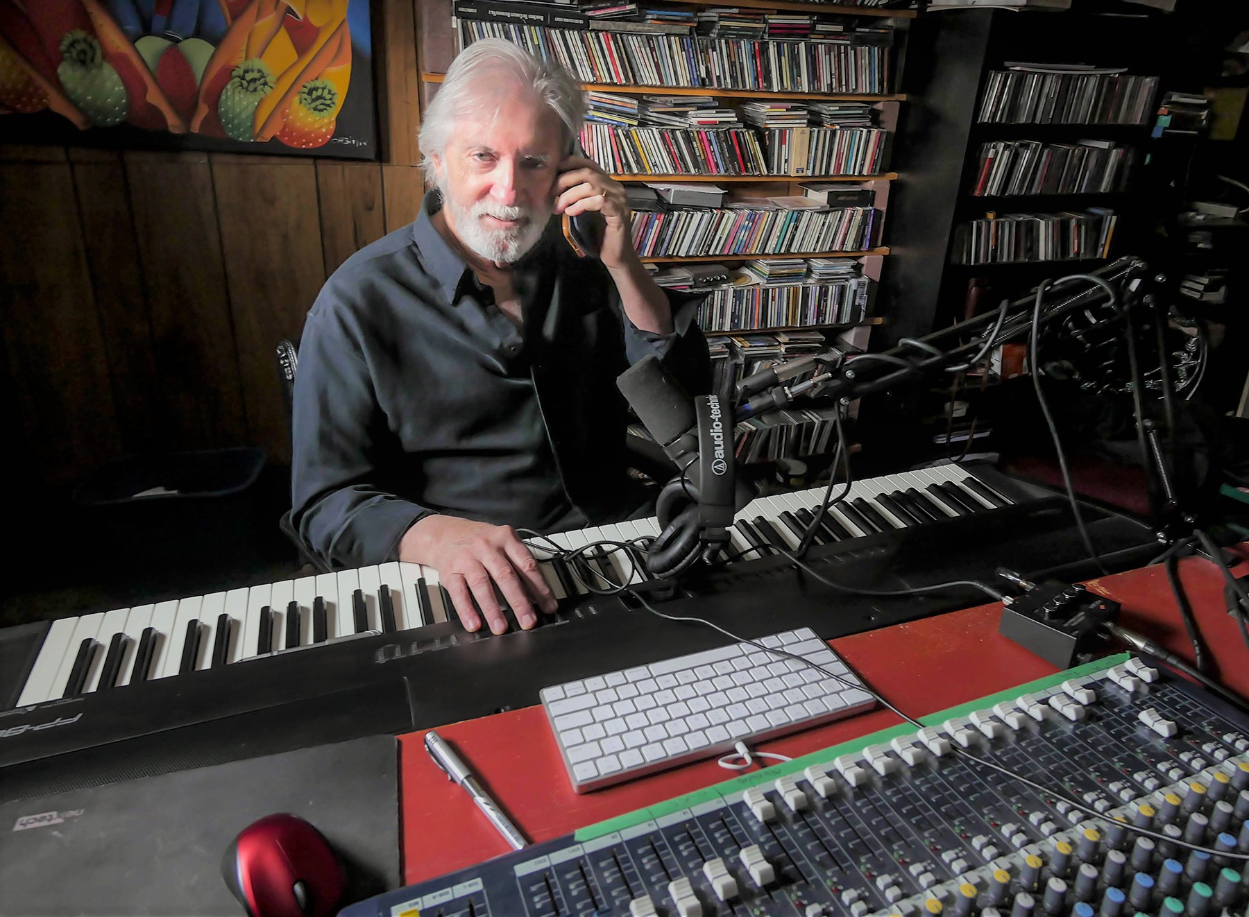 Bill at work in his home studio. Pic: Kris King