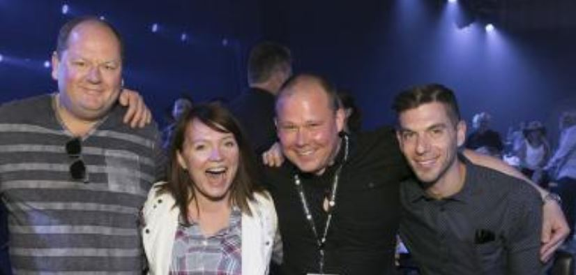 Jeff Craib, Apple Canada Director Jen Walsh (Ross), Tom Kemp and TFA's Jason Furman at an industry shindig