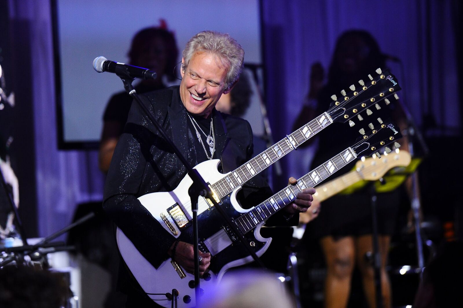 Jeffrey Latimer's longtime friend Don Felder suprised guests with a performance. Photo: George Pimentel Photography