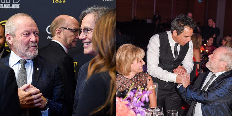 Gary Slaight and Jackson Browne   ––   ––    Donna Slaight, Ben Stiller and Gary Slaight  (Photos by George Pimentel)