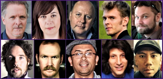(Top) Bernie Breen, Joanne Setterington, Mike Denney, Henry 'Cirkut' Walter, Chris Stringer; (Bottom) Kevin Drew, Charles Spearin, Sam Gerongco, Ohad Benchetrit, Robert Gerongco.