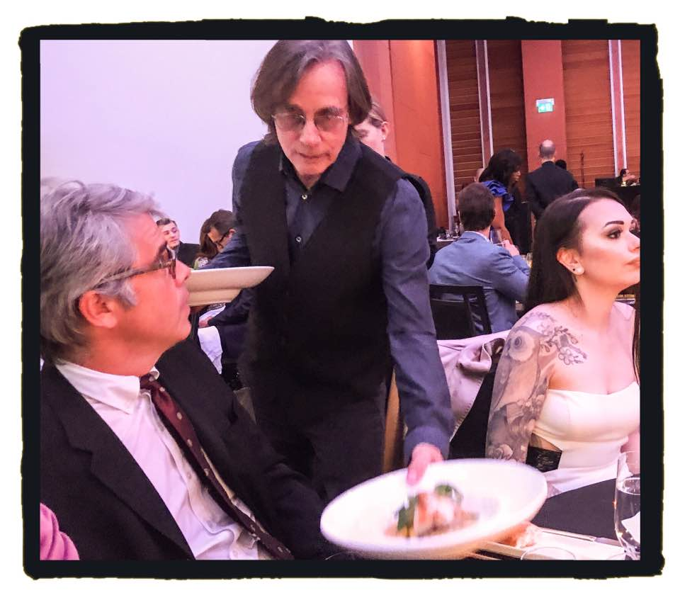 Barnaby Marshall has a Wtf! moment as Jackson Browne serves him his main course