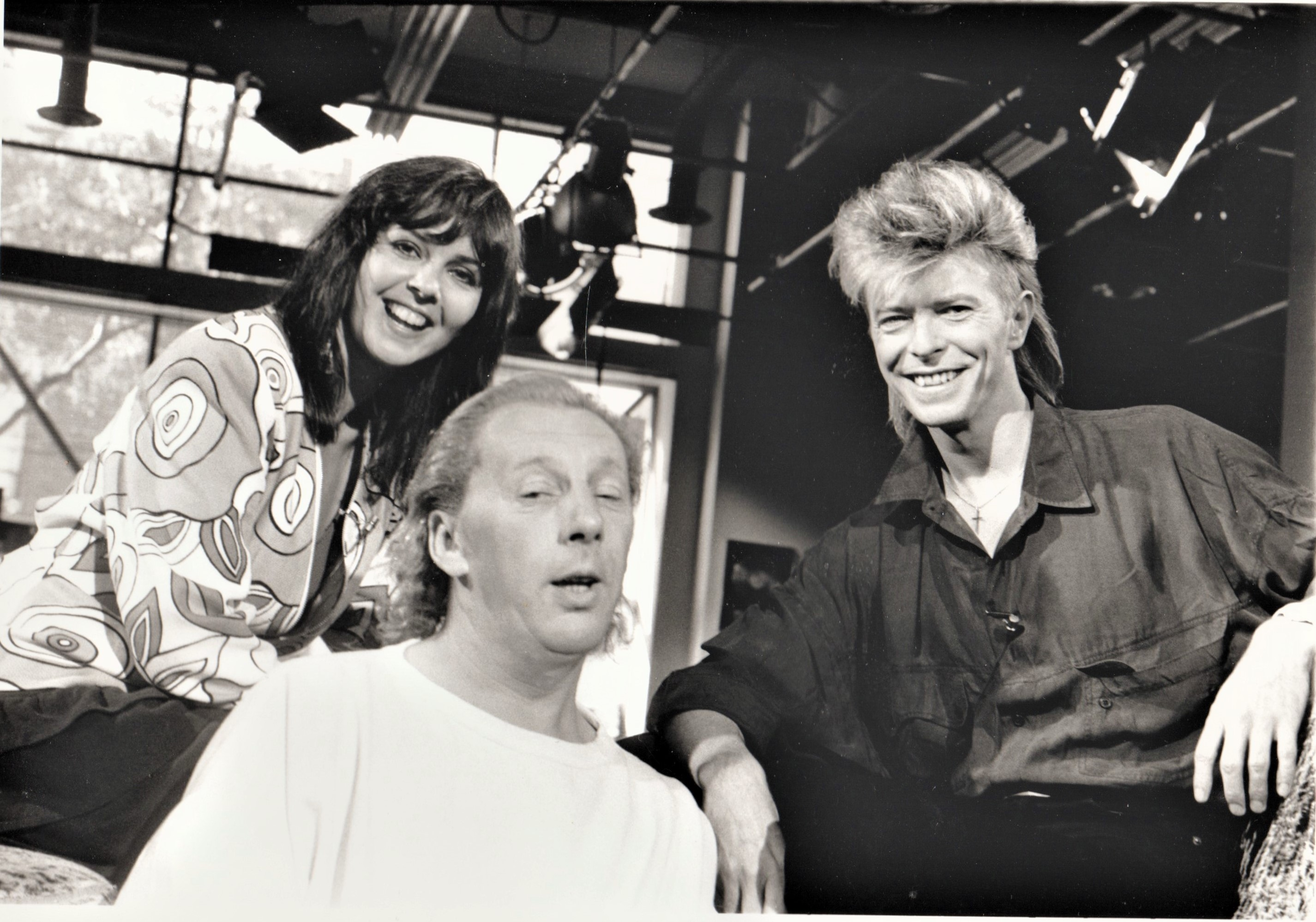 MuchMusic's Laurie Brown and John Martin with David Jones (oops! Bowie)