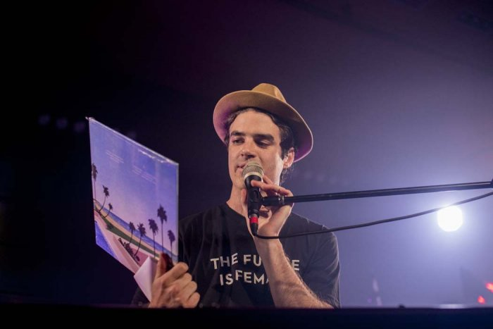 Montreal electro-pop singer Geoffroy launches his debut album at Space A