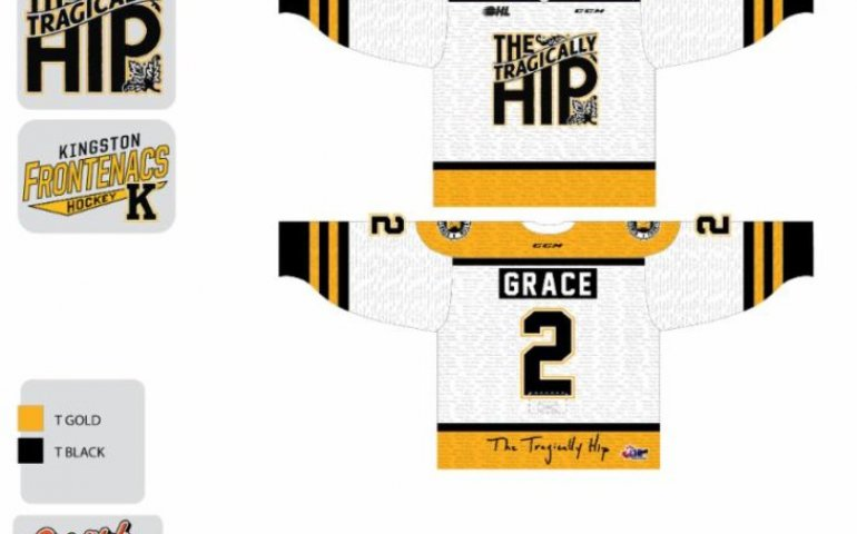 The Kingston Frontenacs' special Tragically Hip-themed jerseys