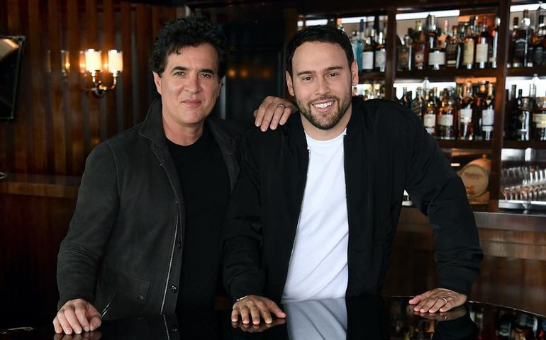 Scott Borchetta (l) and Scooter Braun  Facebook photo
