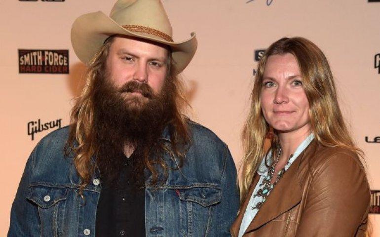 Chris Stapleton with wife Morgane