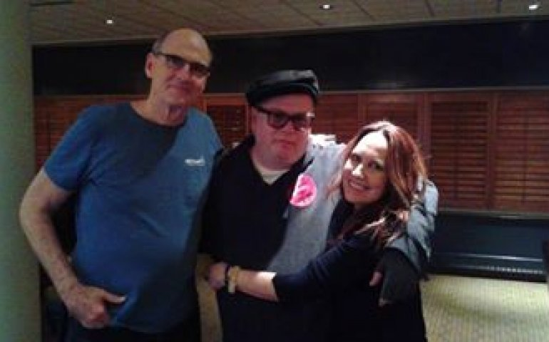 John Cody with James Taylor and Kate Markowitz during Taylor's recent Montreal concert.
