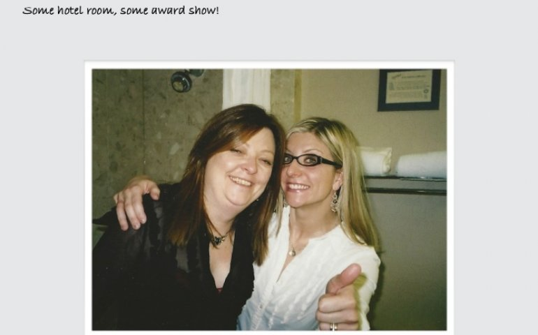 Sheri Jones (l) with client and good friend Kim Stockwood