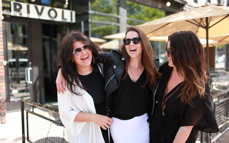 Rivoli owners 2016: L-R Sarah Henning, Jessica McHardy, Jenna Wood. Photo: Dylan McNiven
