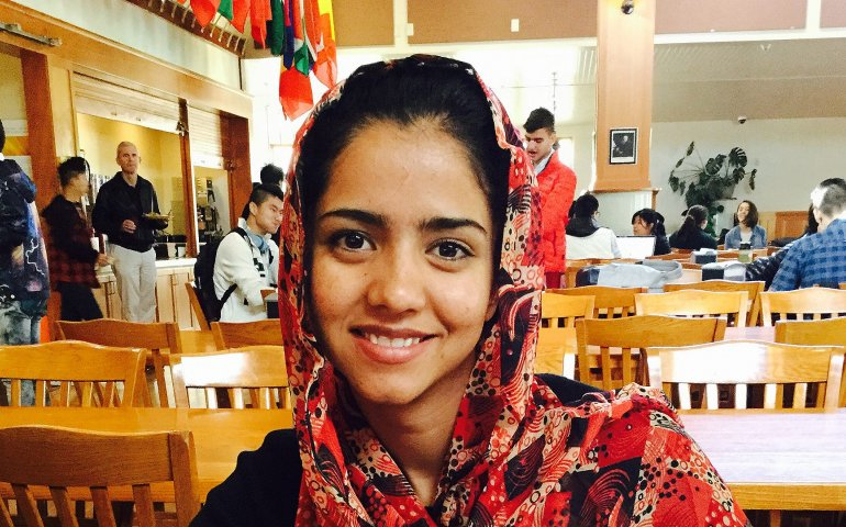 Sonita Alizadeh finds reason to smile...as she battles to free girls trapped at an early age