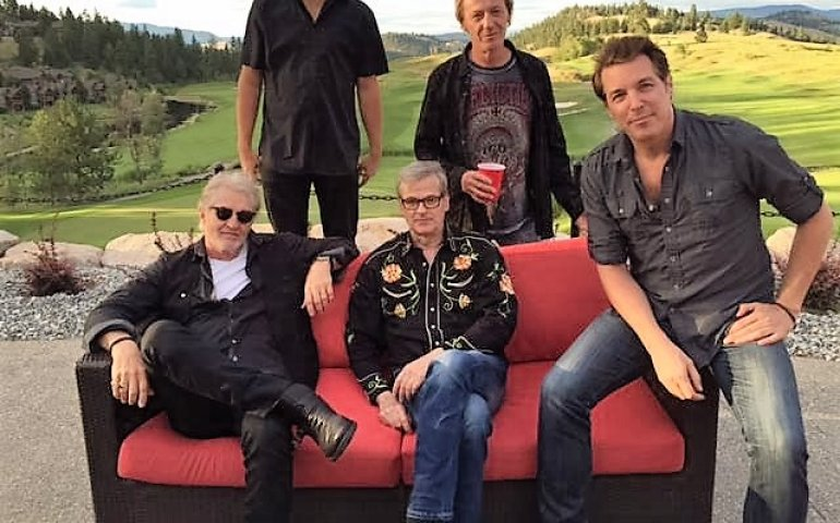 Tom Cochrane and band in the Okanagan Valley last week as part of the Take It Home tour.