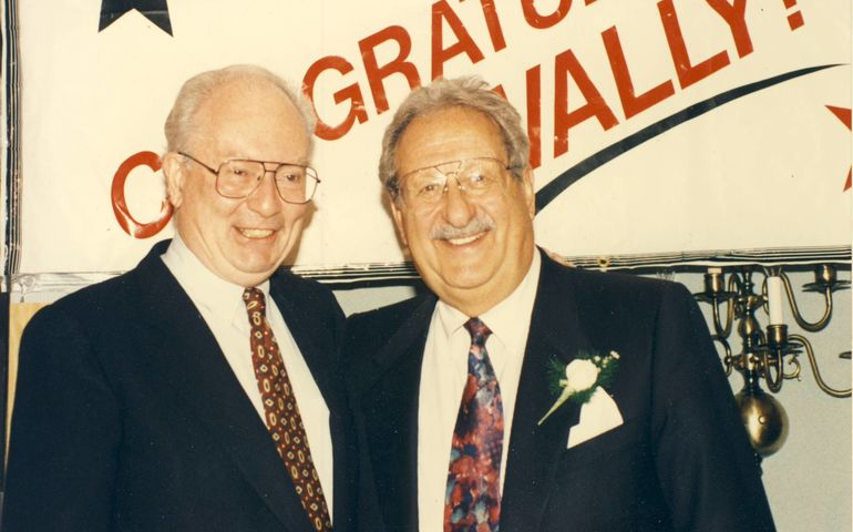 Allan with celebrated CFRB morning man Wally Crouter.