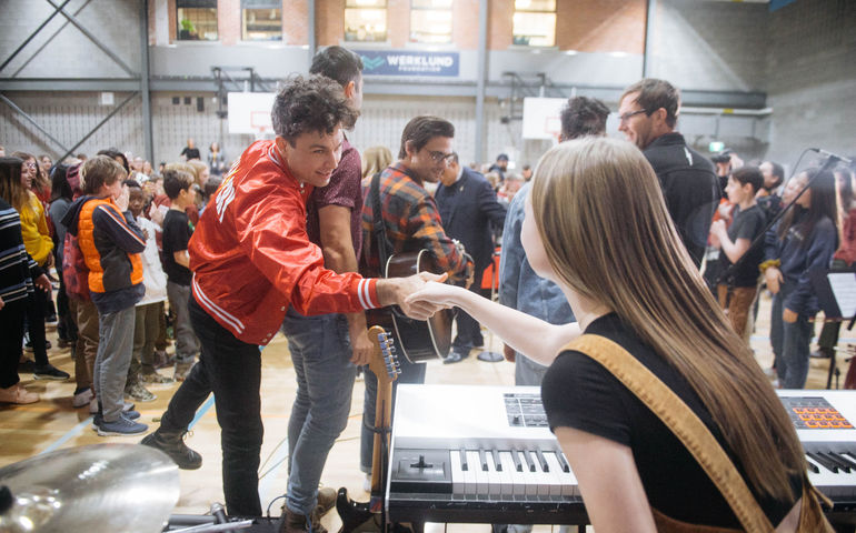 Arkells at MusiCounts event in Calgary  Photo: Rob Loud