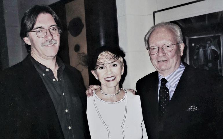 Bill King with Emmanuelle Gattuso and Allan Slaight.