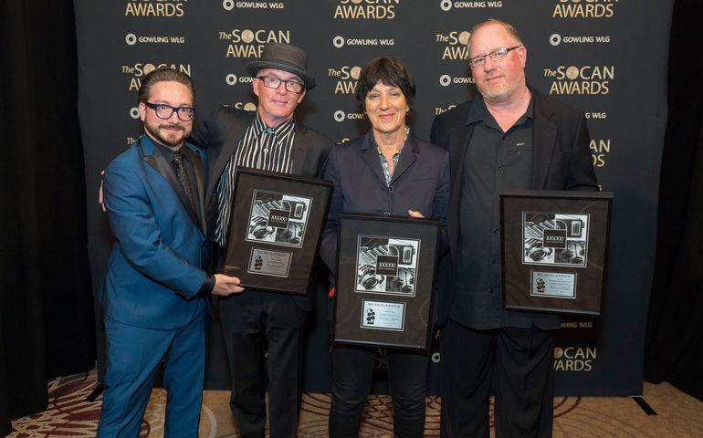Music publisher Brad Machry, Kevan Staples, Carole Pope and Geoff Kulawick