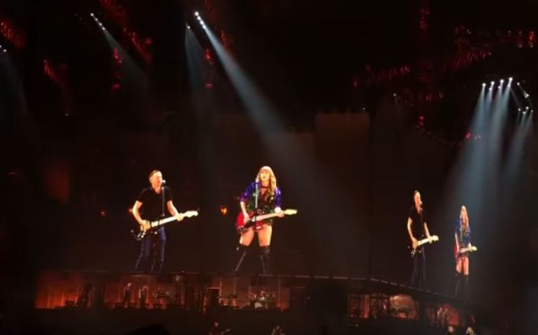 "Bryan Adams on stage with Taylor Swift performing ""Summer of '69"""