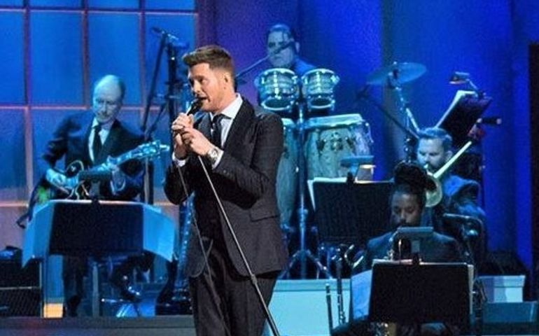 Michael Bublé performing on a recent NPR TV special.