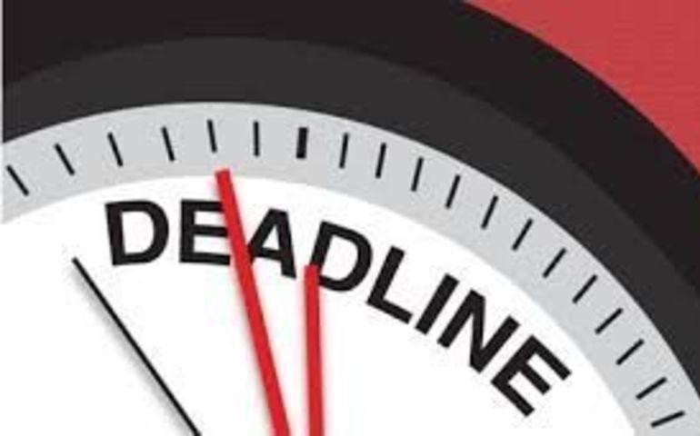 Calendar of Deadlines