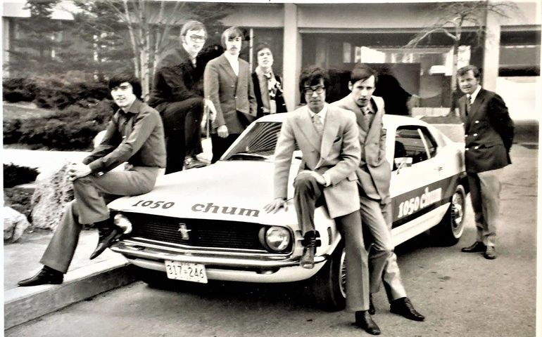 Pic credit: Howard Christensen. Taken in 1970, l-r:Roger Ashby, Tom Rivers, Johnny Mitchell, Chuck McCoy, John Rode, J. Michael Wilson and Jay Nelson.