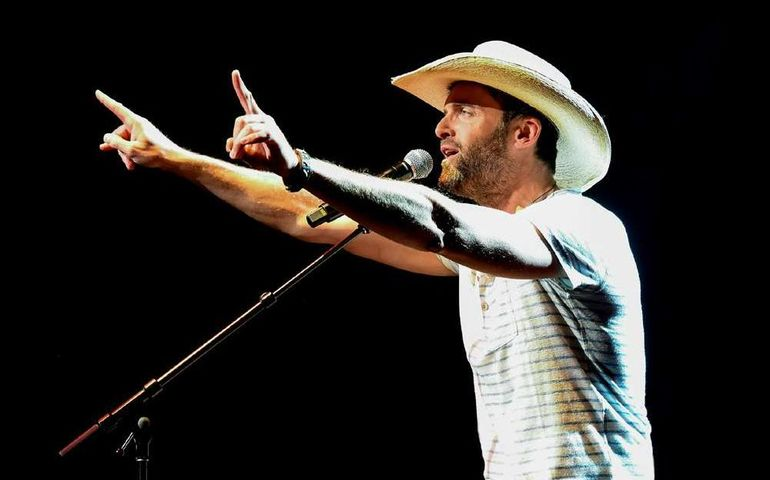 Dean Brody on stage at FirstOntario Concert Hall
