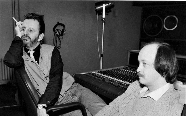 Doug in the studio with Ringo Starr