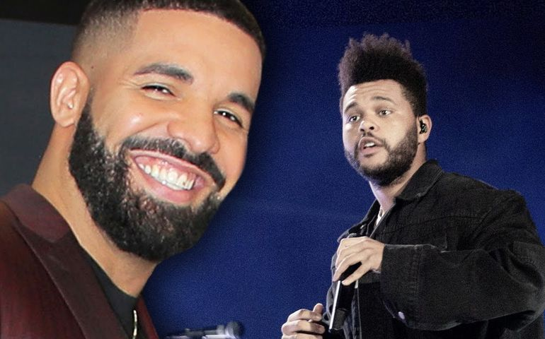 Drake and The Weeknd. Pic-YouTube grab.