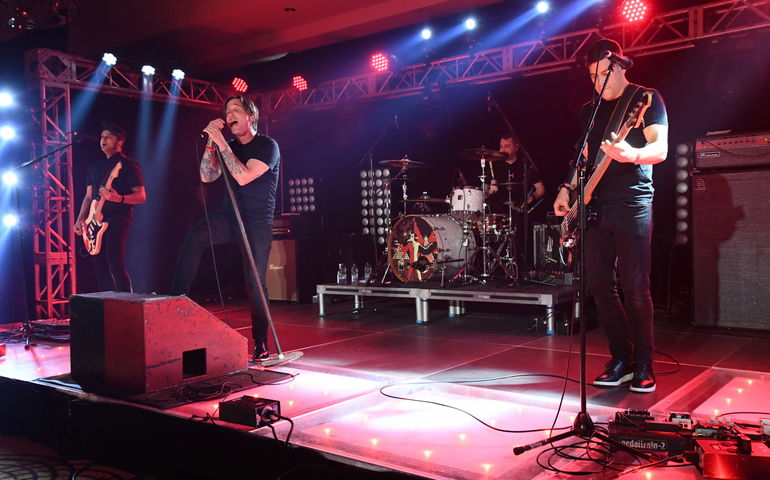 Legends of Live recipients Billy Talent perform at the 2018 Live Music Industry Awards. - photo, Grant Martin