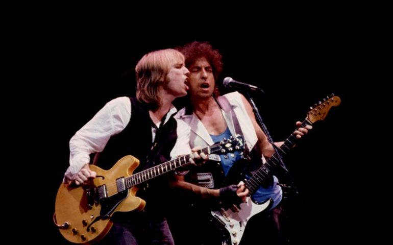 Tom Petty and Bob Dylan, Madison Square Gardens July 16, 1986 Photo courtesy of Patrick Harbron