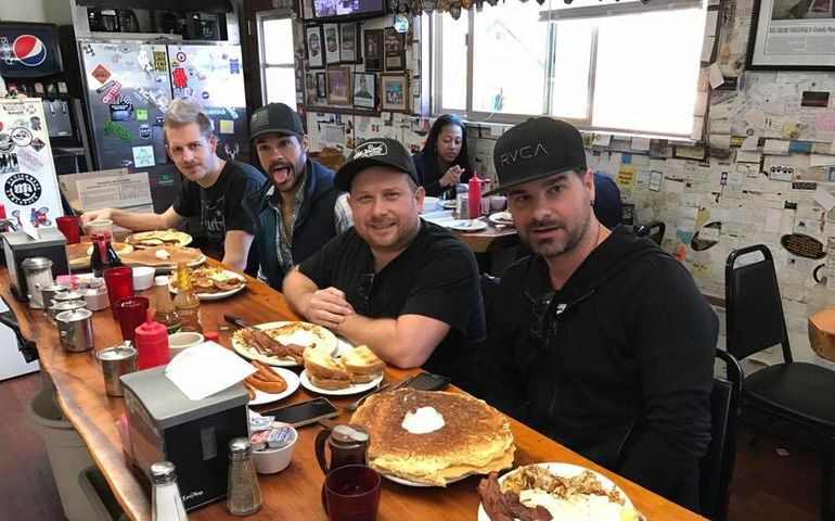 Emerson Drive grab some grub at Grizzly Manor Cafe