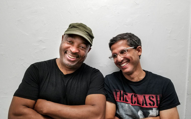 Chuck D (l) with Errol Nazareth