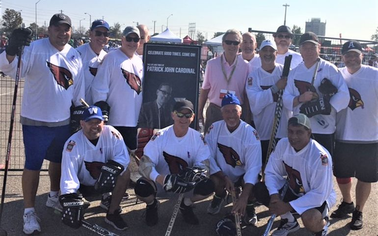 The Cardinals raised $37K as part of Scotiabank Road Hockey to Conquer Cancer. Named in memory of the late Pat Cardinal, the overall fund-raising event brought in $2.6M for cancer research at the Princess Margaret Cancer Centre.