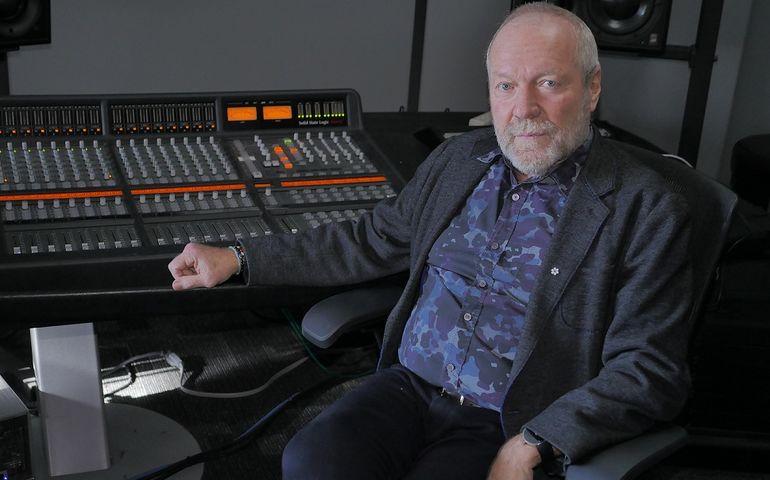At the mixing board at Slaight Music.Photo - Bill King