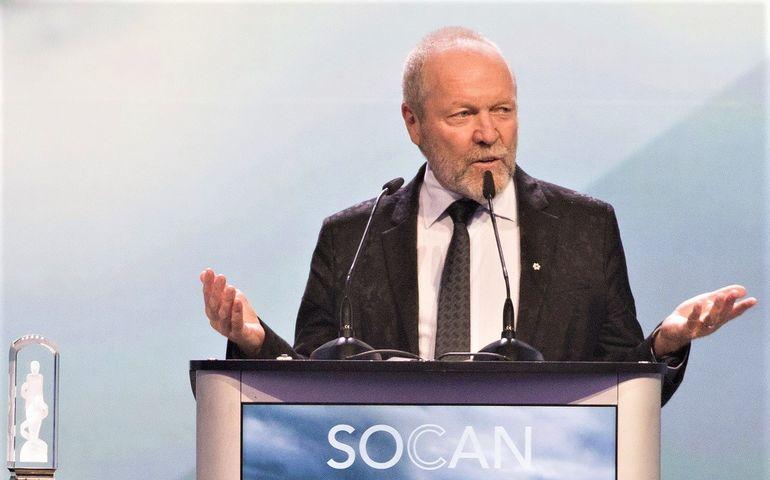 Gary Slaight accepting his Humanitarian Award Saturday night in Vancouver.