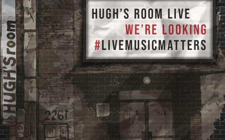Hugh's Room signage March 5. Pic provided
