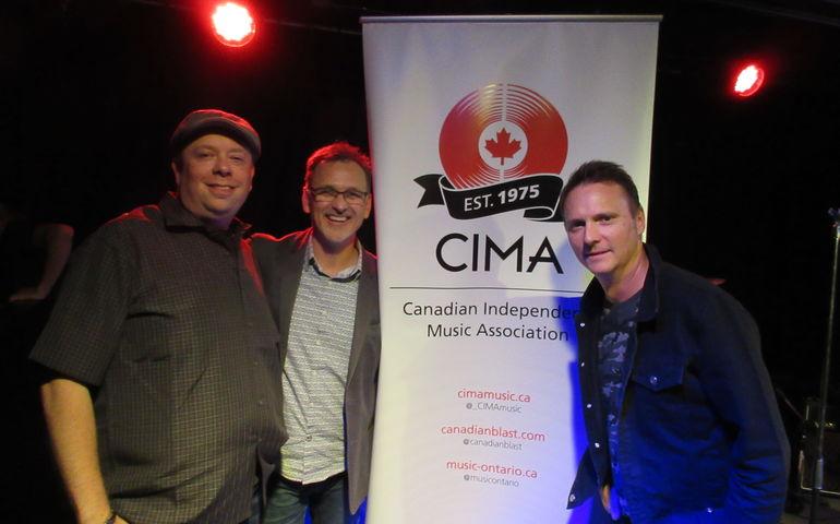 RSD Canada's Ryan Kerr, CIMA's Stuart Johnston and Nielsen Music Canada's Paul Shaver