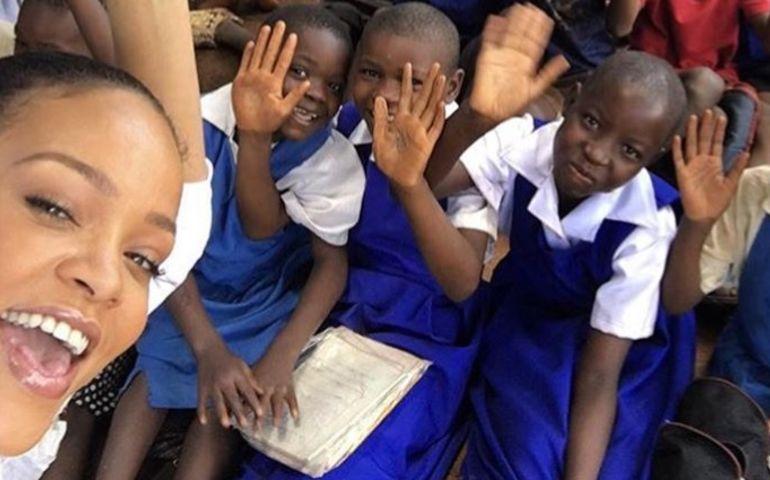 Rihanna promotes education in Malawi