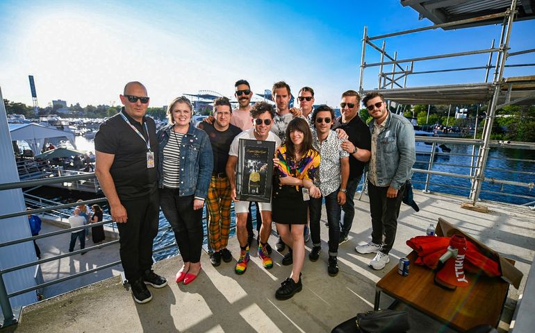 Arkells and team receive Road Gold