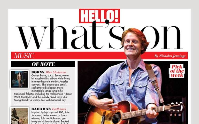 Jim Cuddy Band on tour with this week's No. 1 best-selling album