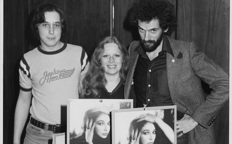 John Terminesi with the late Nanci Krant, along with Brian Master at CHUM FM circa 1979