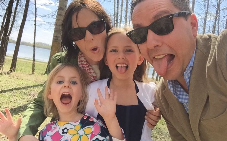Jon in happy times with his family. Pic: GoFundMe page