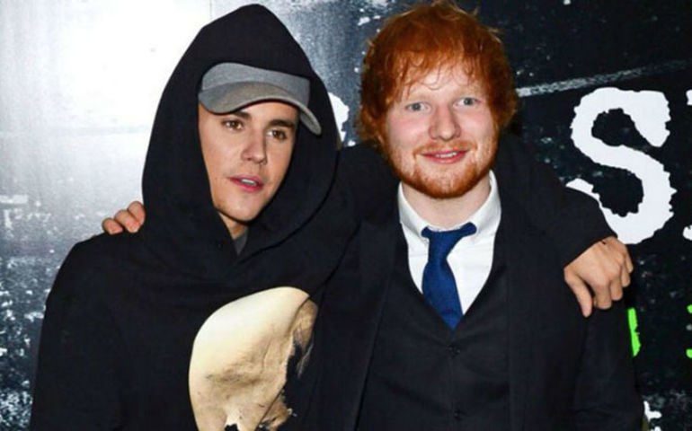 Bieber and Sheeran together fighting depression.