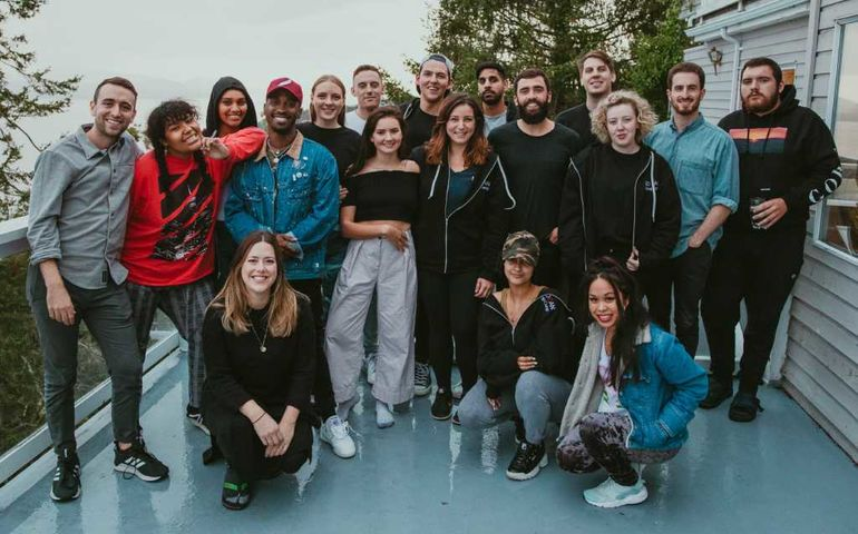 Photo by SOCAN, of the/du 2018 SOCAN Kenekt Song Camp on/à Pender Island, BC
