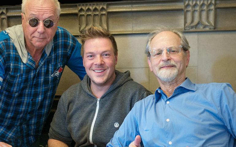 (l-r) Greg Godovitz, Jesse King, Eddie Kramer at CIUT Photo: Bill King