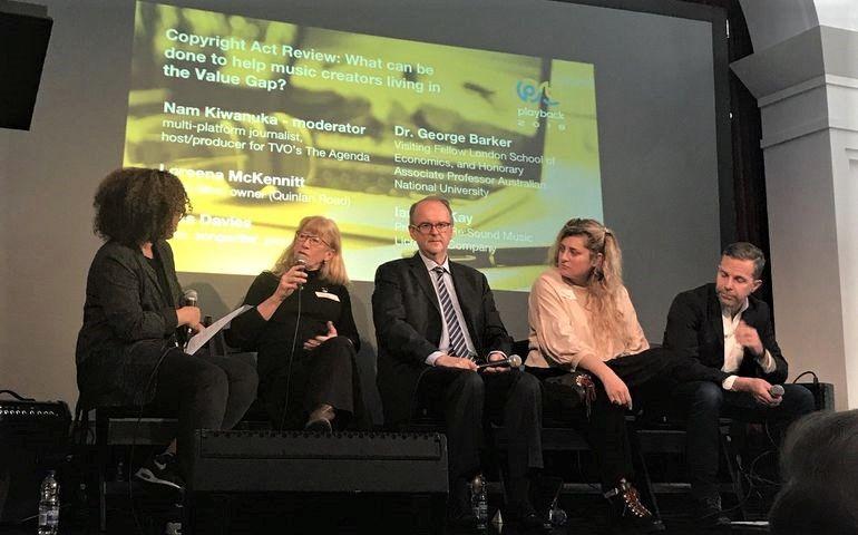 L-R - Nam Kiwanuka, Loreena McKennitt, Dr. George Barker, Maia Davies and Re:Sound President Ian MacKay