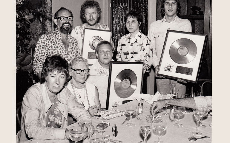 Lightfoot with members of his family and his band in the mid-70s. From the book, courtesy of Gordon Lightfoot