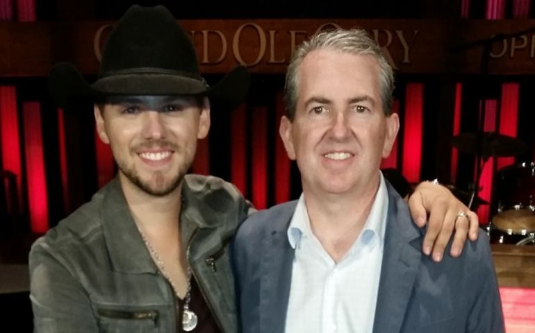 Brett with manager Louis O'Reilly at the Grand Ole Opry